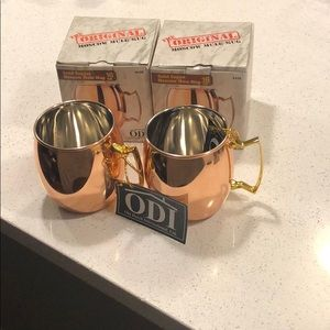 Other - Set of 2 Copper Moscow mule mugs